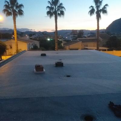 Terraza impermeabilizada con epdm