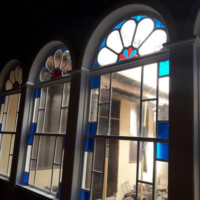 Vidriera restaurada en Casona del S XVII La Laguna