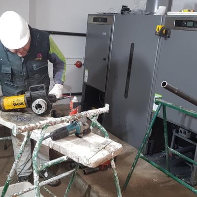 Instalación Calderas de pelets en Cascada