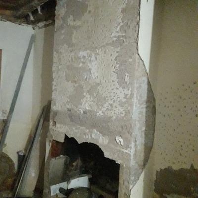 chimenea vieja para restaurar