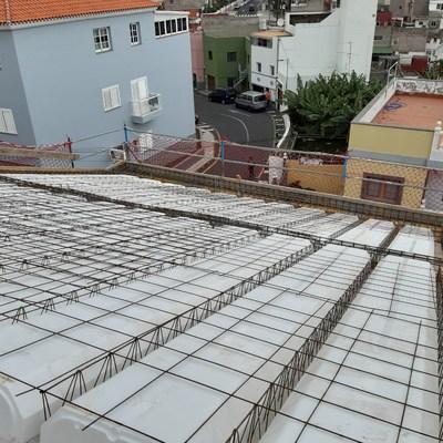Construccion cubierta inclinda