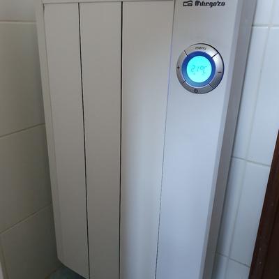 Instalación de emisor de calor.