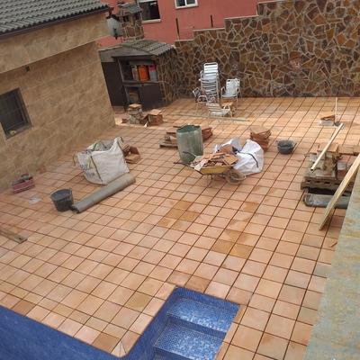 Colocación del suelo exterior