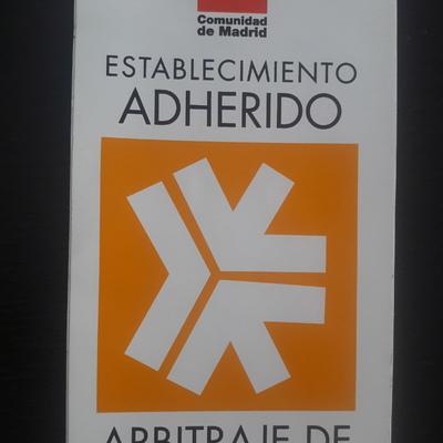 Adherido a Arbitraje de la Comunidad de Madrid