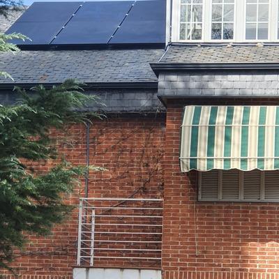 instalación panel solar 340w