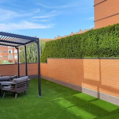 Césped y jardín vertical