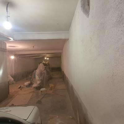 Aplicacicón de pinturas en garaje