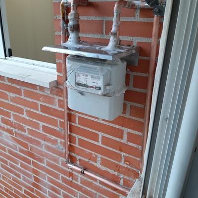 Instalación de gas y contador