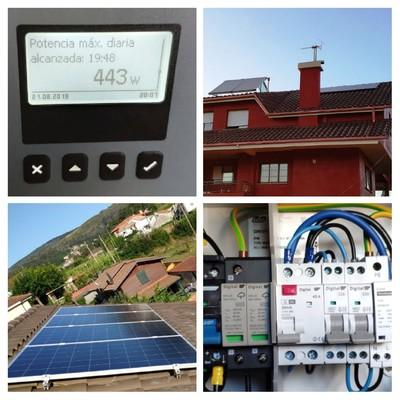 Instalación de paneles solares en Catoira