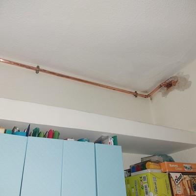 Instalación vista de agua caliente en cobre de 15