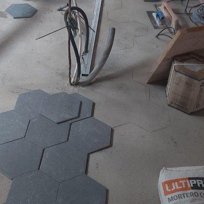 Exagonales para suelo cocina