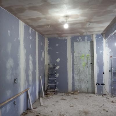 Paredes de pladur y techo escayola