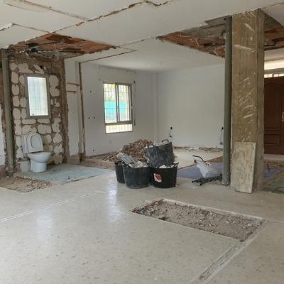 Demolición  piso.