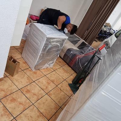 Embalaje de los electrodomésticos con mucha profesionalidad