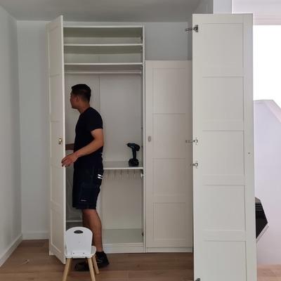 Montaje y desmontaje de los armarios.