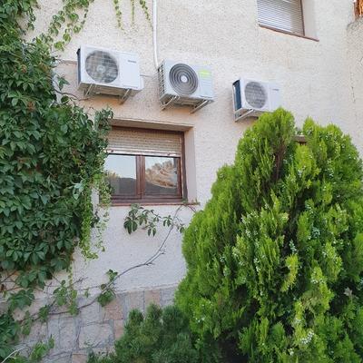 Compresores en fachada