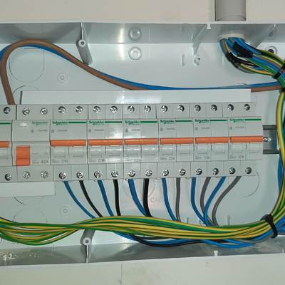 Cableado cuadro eléctrico electrificación básica