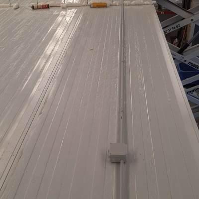 Instalación sobre techo cámara frigorífica
