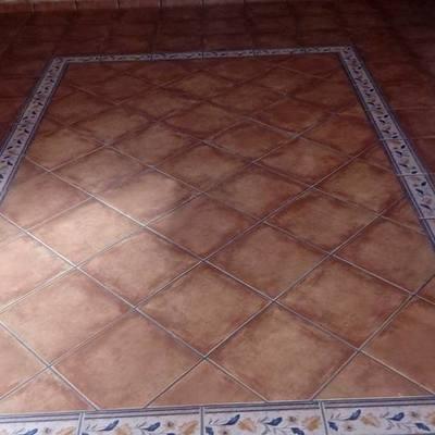 alfombra de gres imitación barro