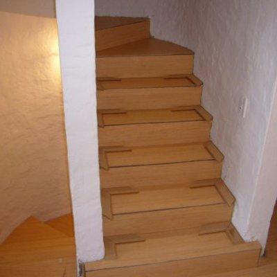 laminado sobre escalera