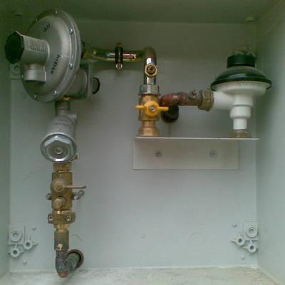 Armario regulación de gas