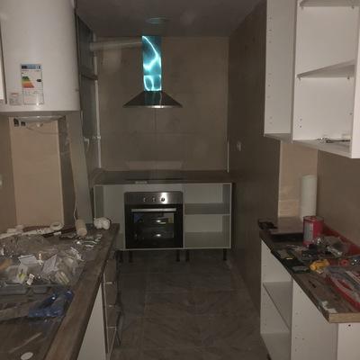 Muebles de cocina y techo de pladur a medida