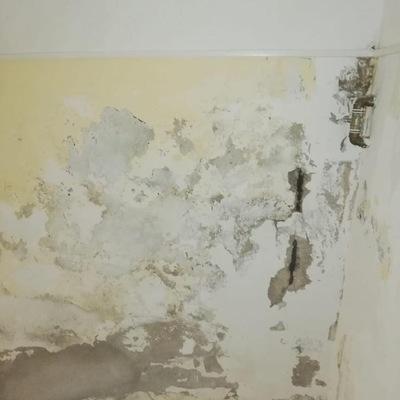 Pintura interior caja de escaleras, reparación de superficies