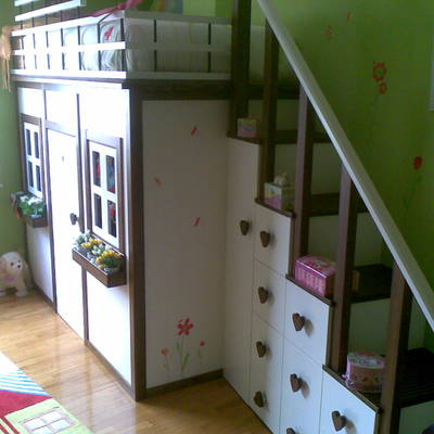 Cama-casita infantil