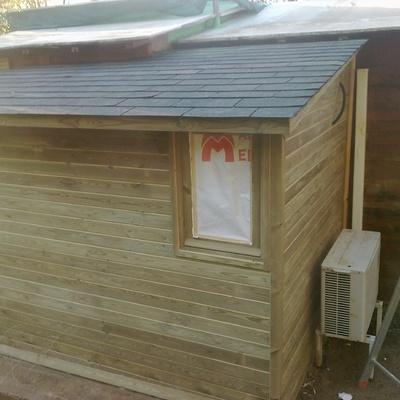 ampliación cabaña de madera