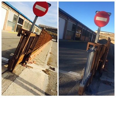Reparacion y Recolocacion puerta acorredera automatica