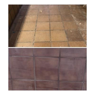 Antes de limpieza de suelos y paredes por obra