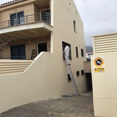 Pintura fachada de casa