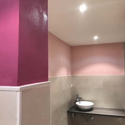 Pintado de baño 2 colores