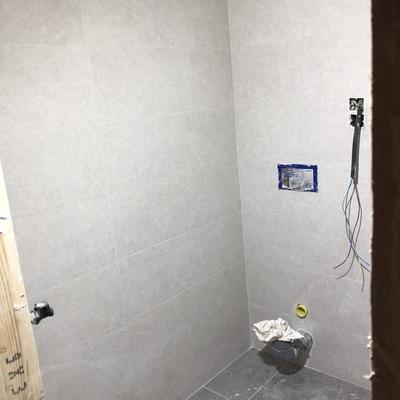 Baño con inodoro suspendido