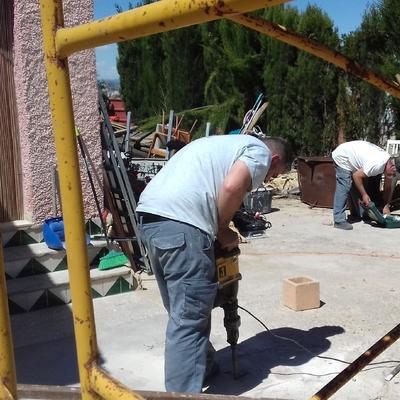 Construcción porche en chalet