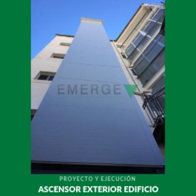 Instalación de ascensor exterior en comunidad de vecinos