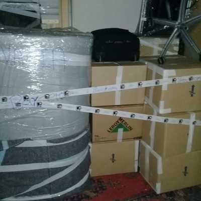 Embalajes de cajas y objetos