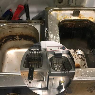 Limpieza de mobiliario de cocina industrial