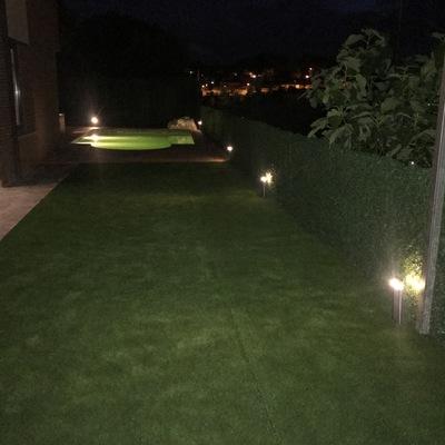 Instalacion luz ambiental en jardin
