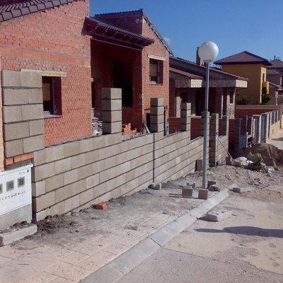 muro bloque gris
