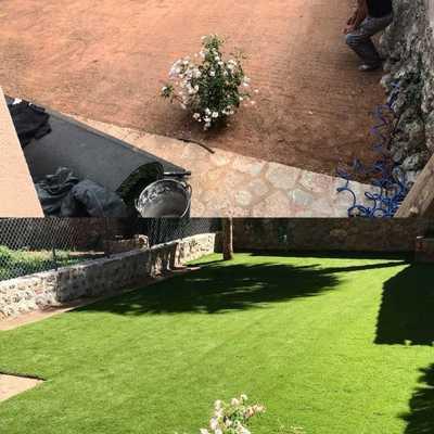 el resultado final del jardín