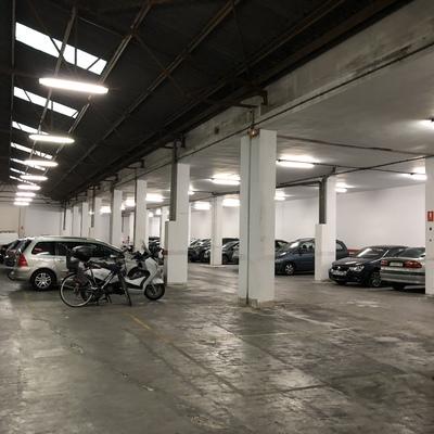 Garaje, antes de la renovación.