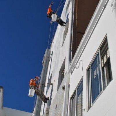 Pintura de fachada trasera