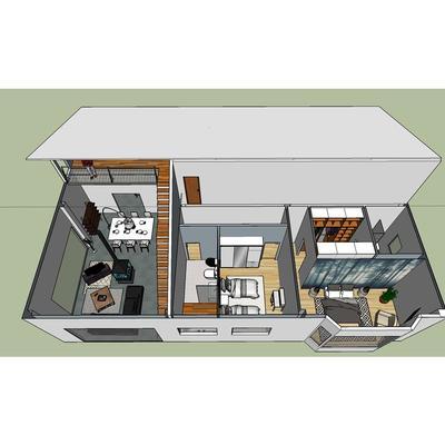 Plano 3D vivienda