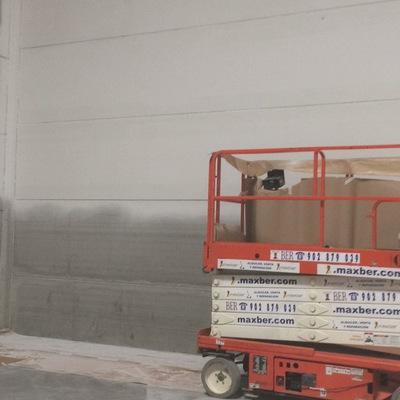 Pintar paredes de taller en altura de 9.5metros