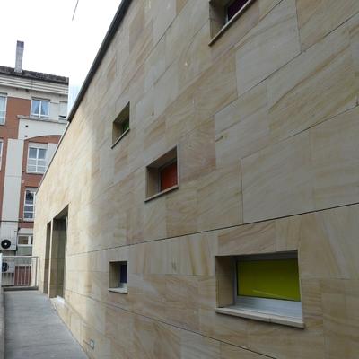 Colocación piedra natural en fachada IV