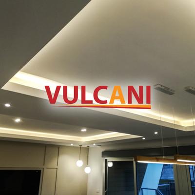 Salón moderno iluminado con leds diseño