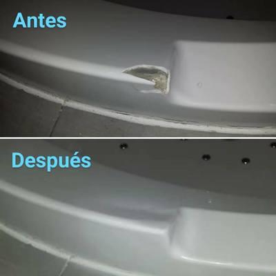 Reparación, reconstrucción y esmaltado jacuzzi blanco