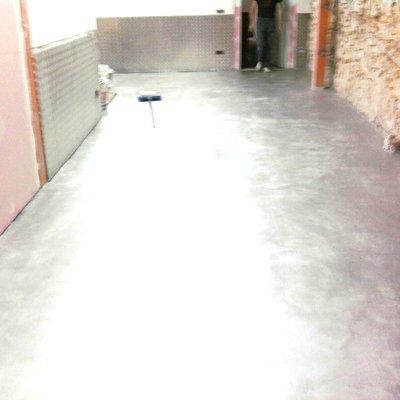microcemento en garaje vivienda