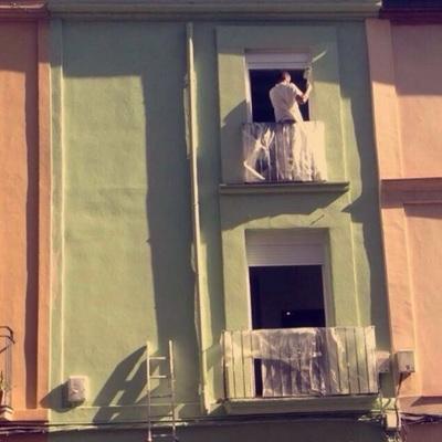 Pintura en fachada de edificios